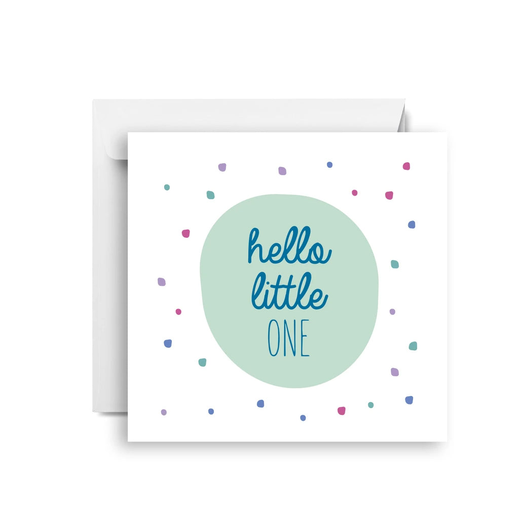 Hello Little One Small Greeting Card