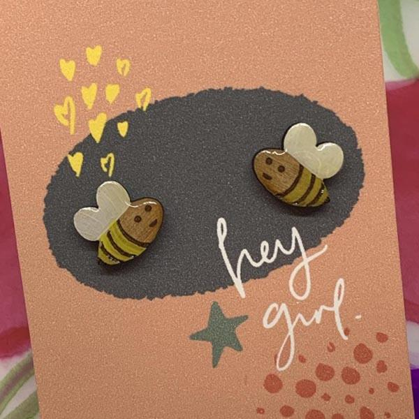 Hey Girl Earrings (Bee)