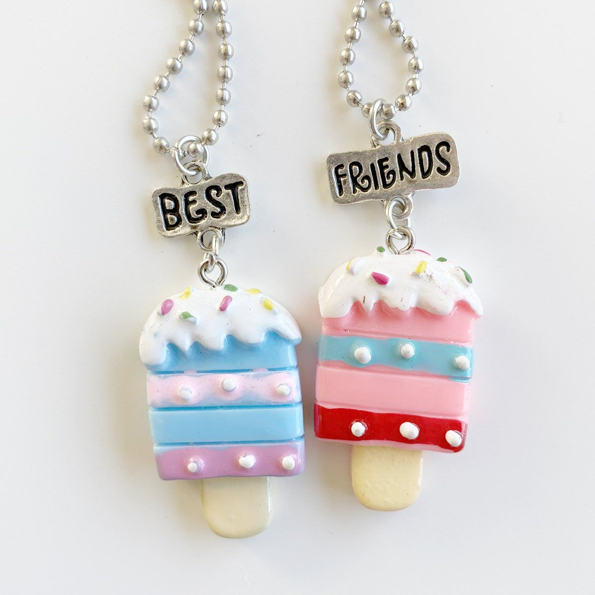 Sprinkle Ice Cream Best Friends Necklace