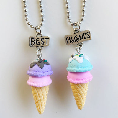 Ice Cream Best Friends Necklace (Purple/Mint)