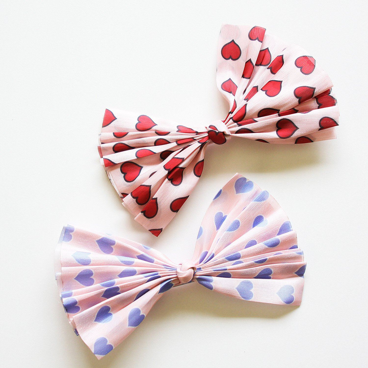 Heart Bow Hair Clip