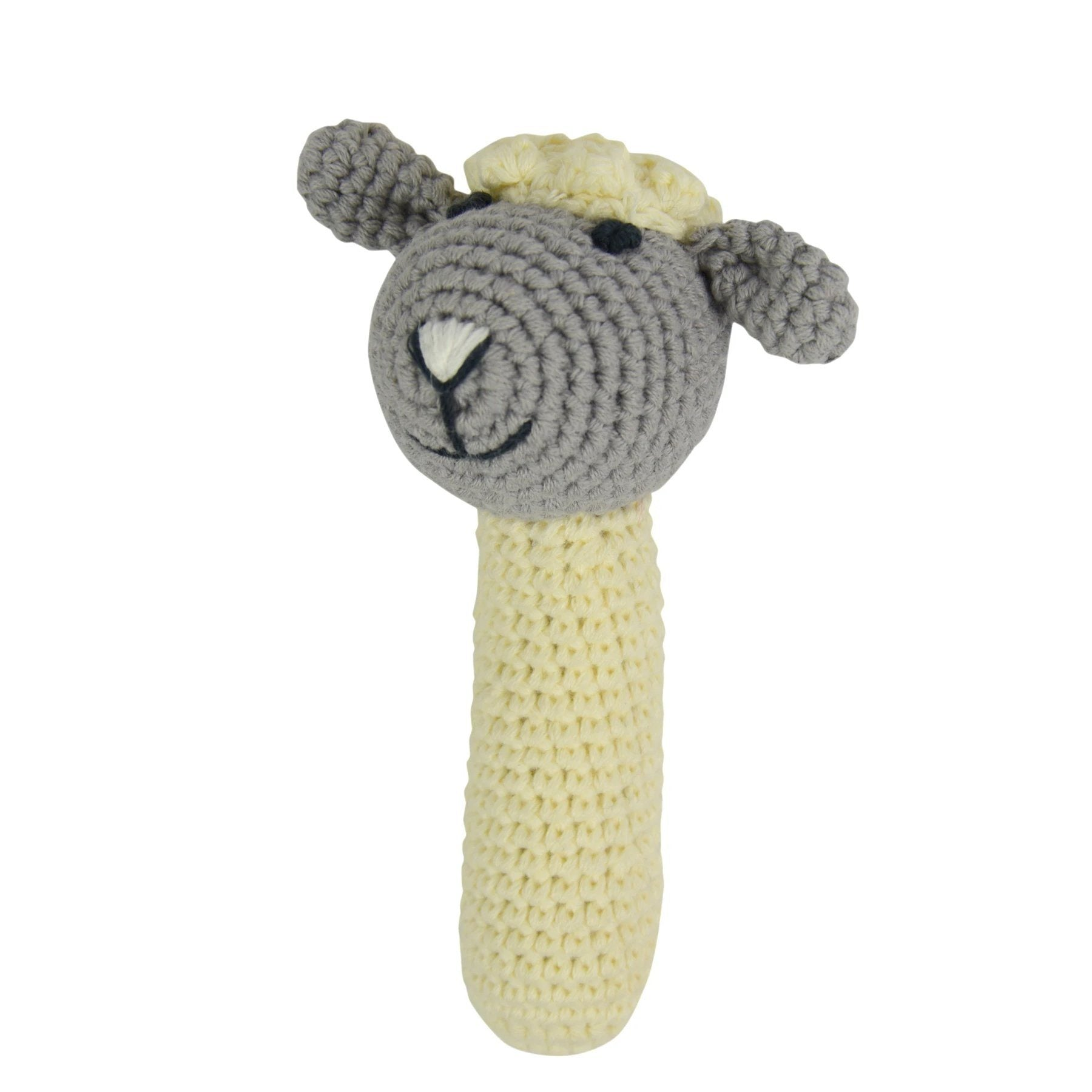 Crochet Rattle (Lamb)