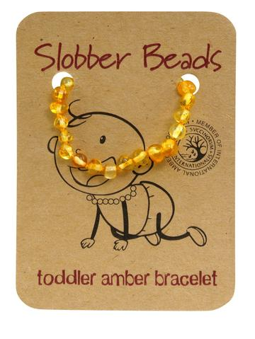 Amber Toddler Teething Bracelet (Lemon Round)