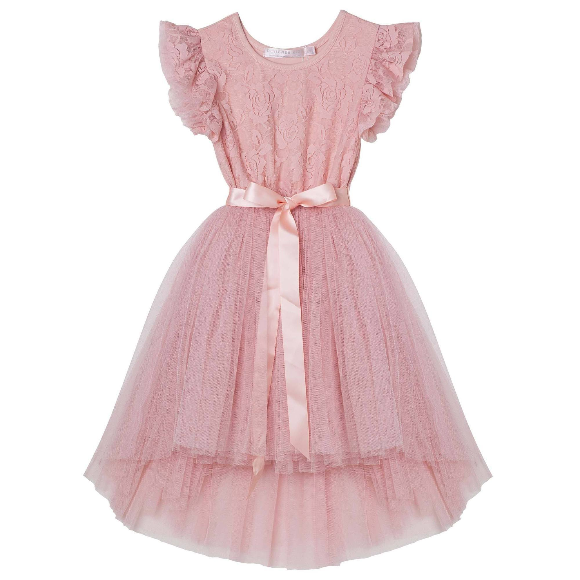 Libby Lace Tutu Dress (Tea Rose)