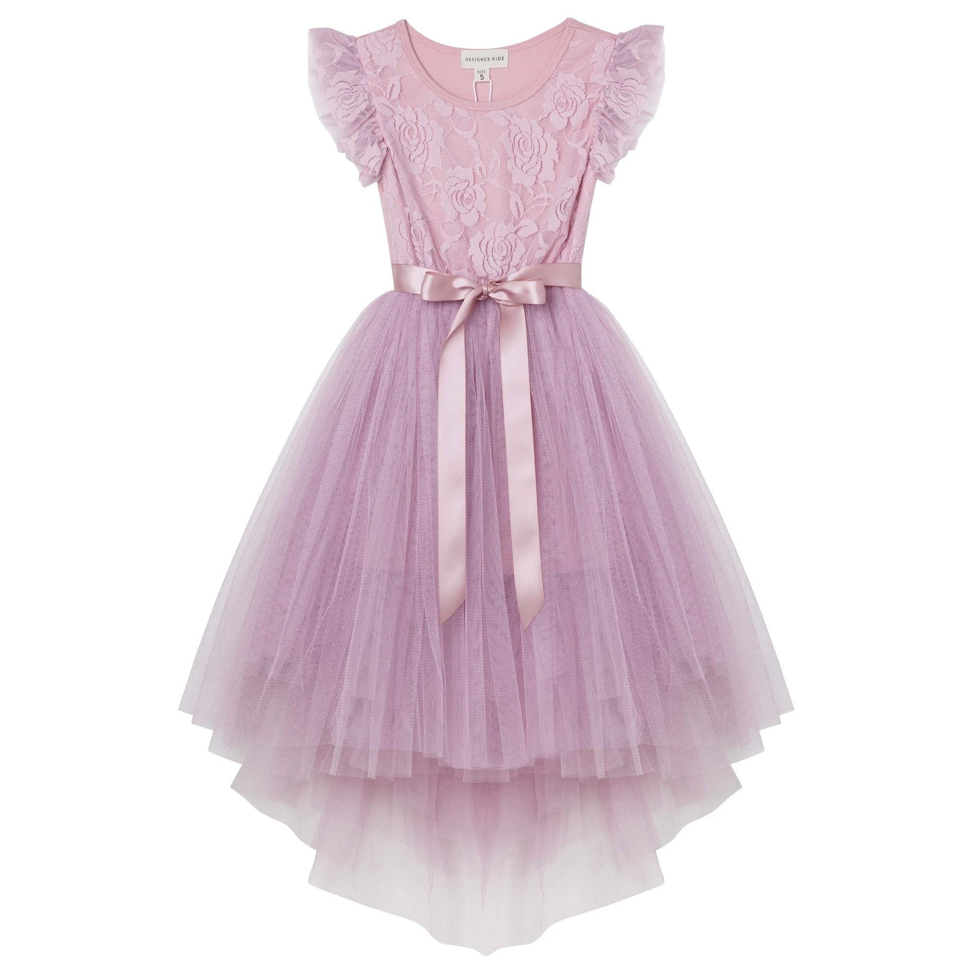 Libby Lace Tutu Dress (Truffle)