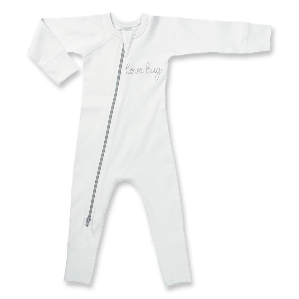 Love Bug Grey Zip Romper