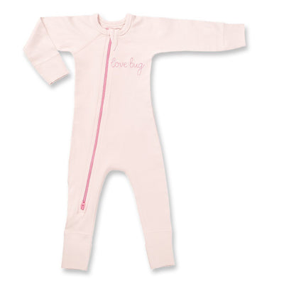Love Bug Pink Zip Romper