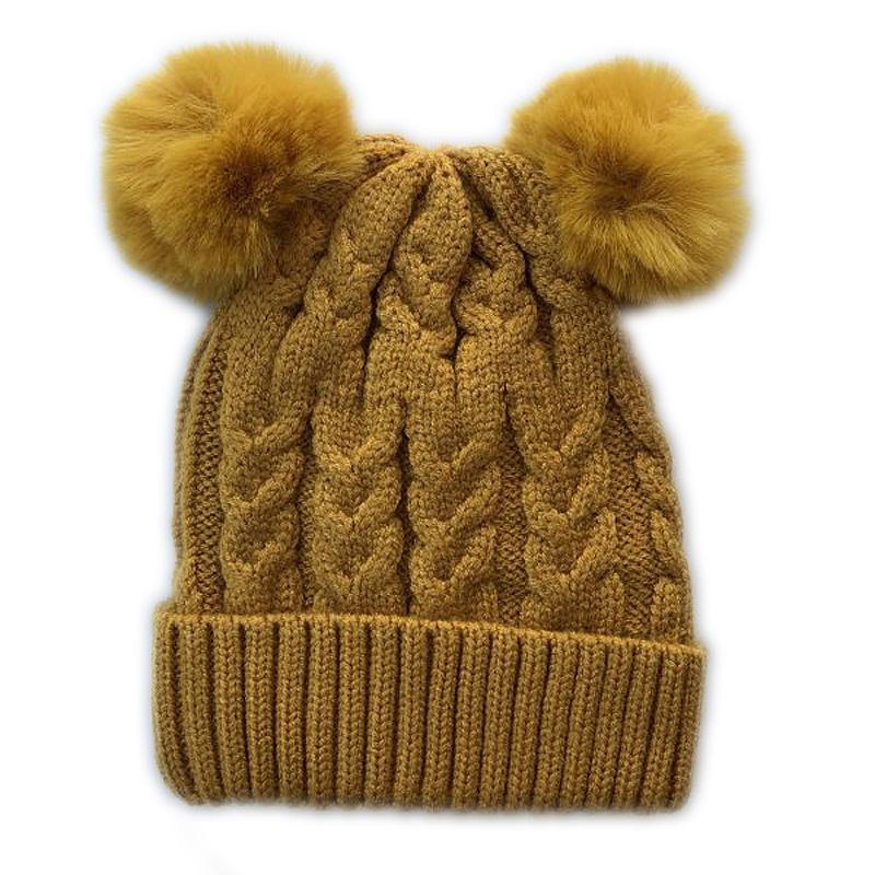 Double Pom Pom Beanie (Sunrise)