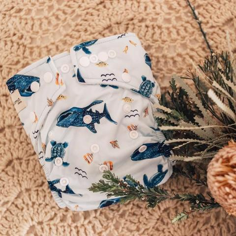 Marine Life Modern Cloth Nappy