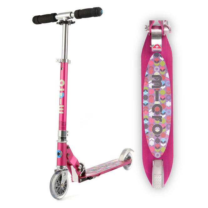 Sprite Scooter (Raspberry Floral Dot)