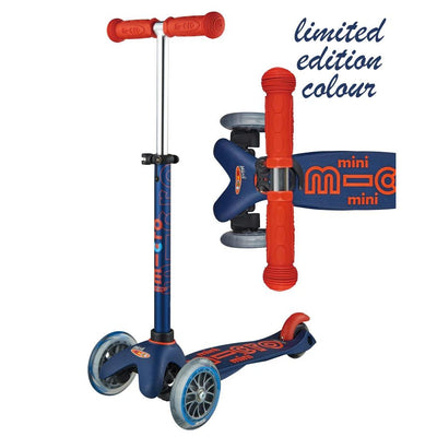 Mini Micro Deluxe Scooter LIMITED (Navy/Red)