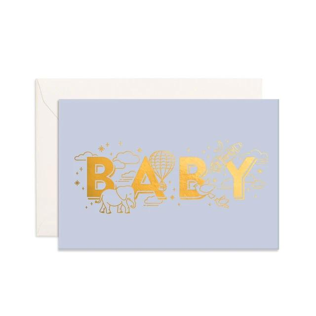 Blue Baby Universe Mini Greeting Card