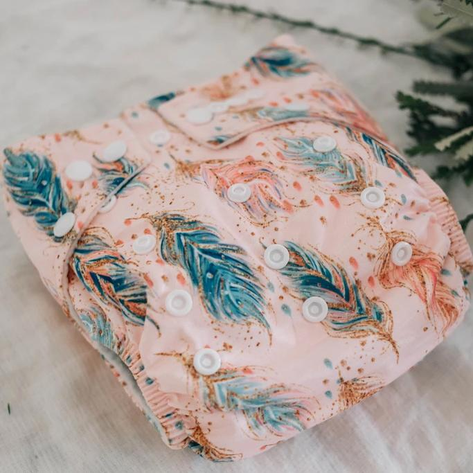 Feathers & Sparkle Modern Cloth Nappy