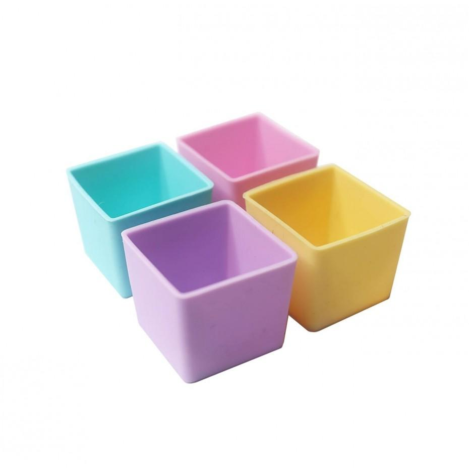 Munch Cups 4 Pack (Pastel Squares)