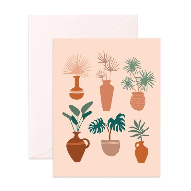 Muse Vases Greeting Card