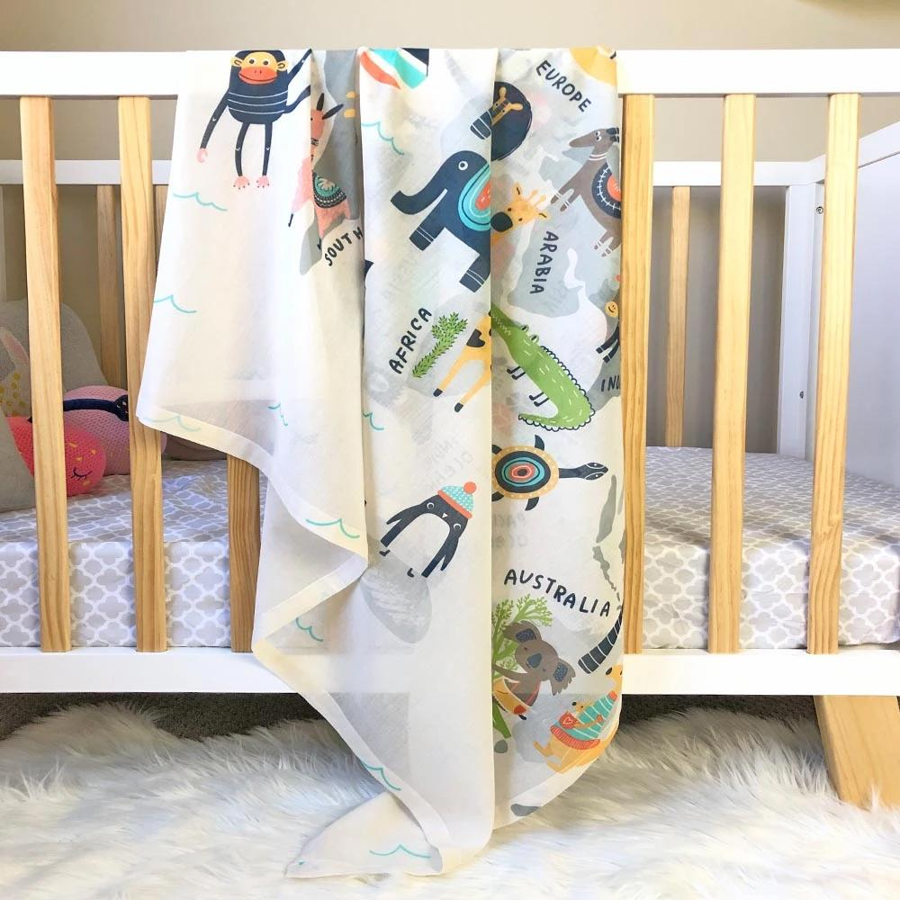 Animal World Muslin Swaddle