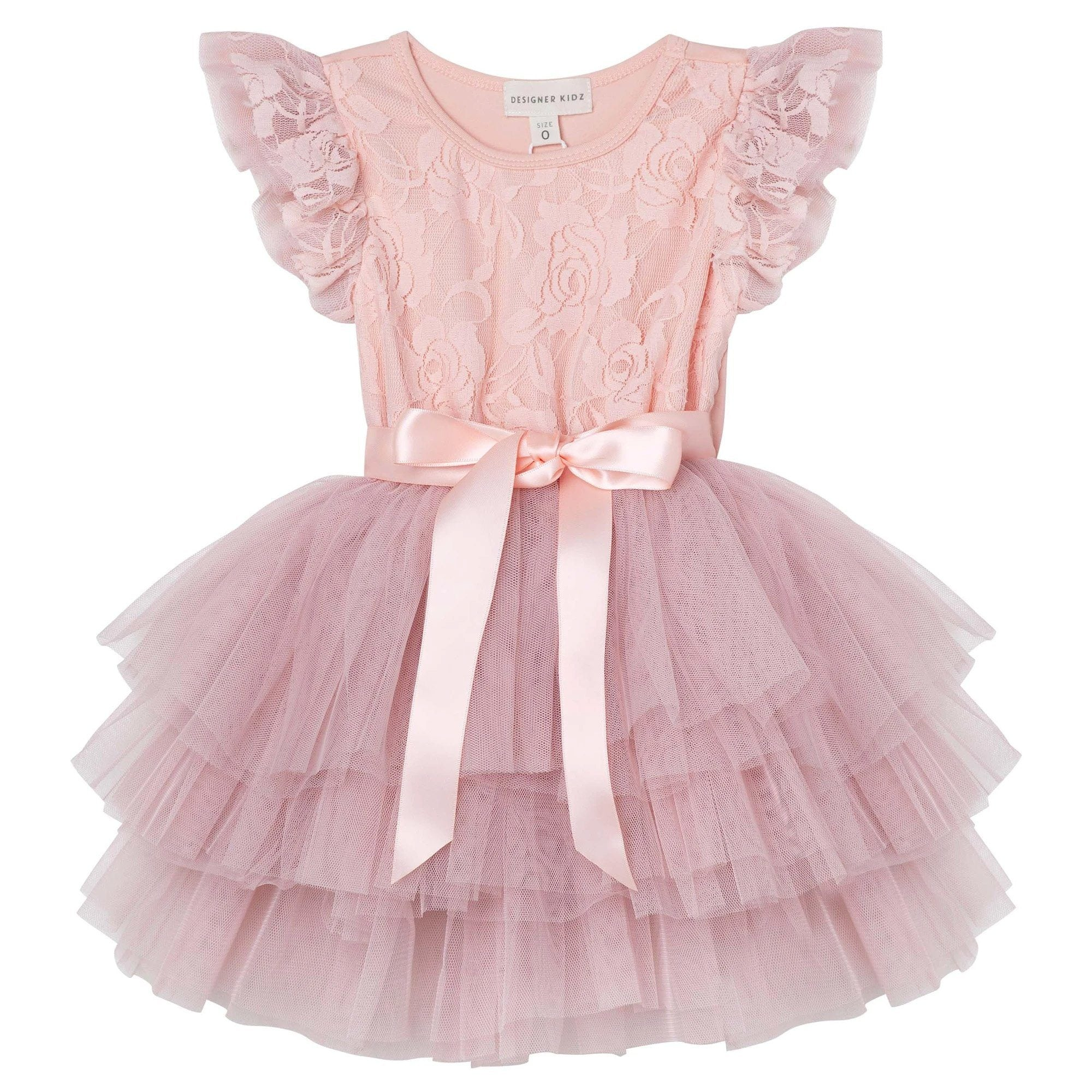 My First Lace Tutu Dress (Tea Rose)