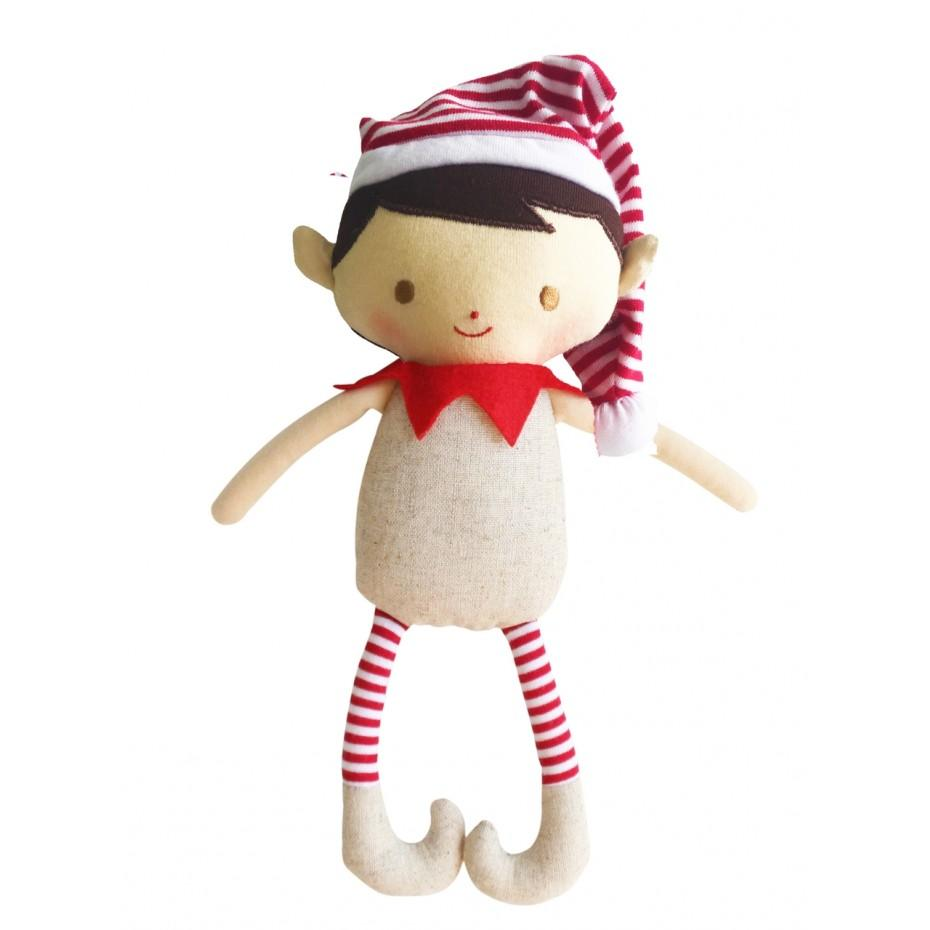 Cheeky Elf Boy Rattle (Linen)