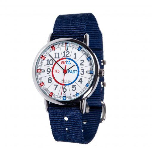 EasyRead Watch Navy Strap (Red/Blue)