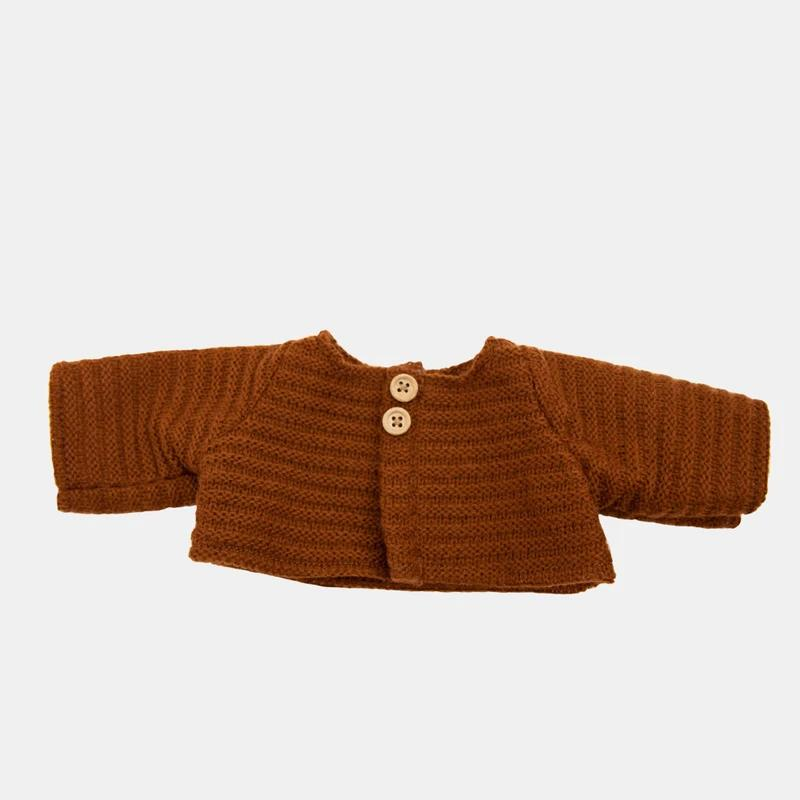 Dinkum Dolls Cardigan (Chestnut)