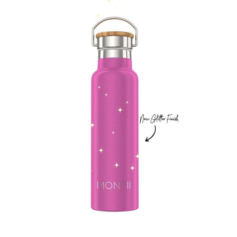 Original Drink Bottle (Bright Pink Glitter)