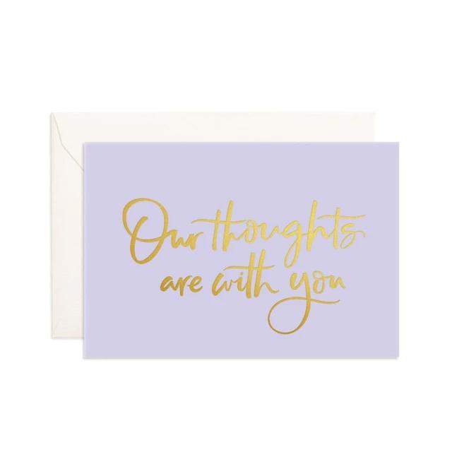 Our Thoughts Mini Greeting Card
