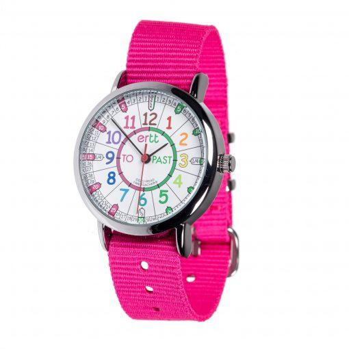 EasyRead Watch Pink Strap (Rainbow)