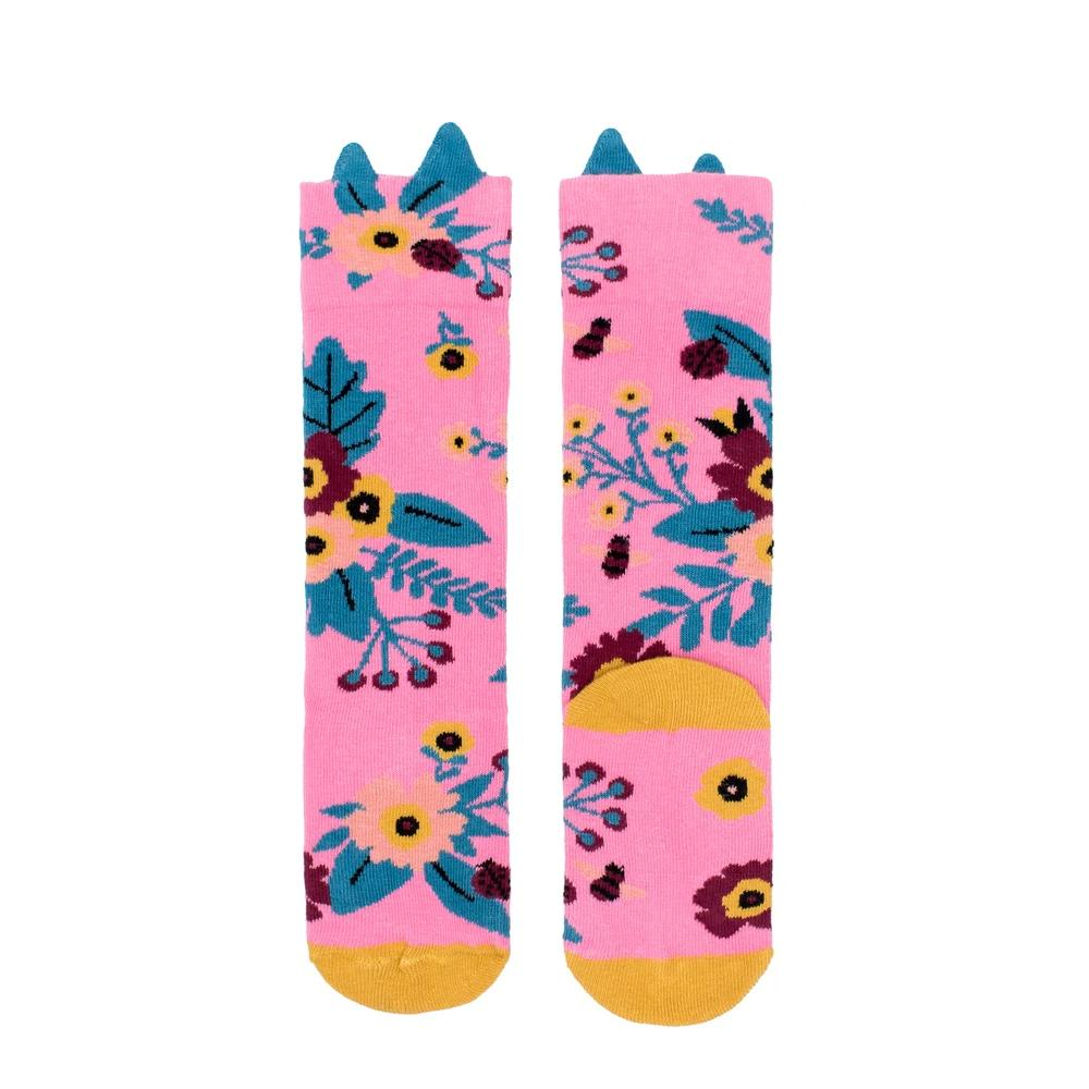 Pink Garden Knee High Socks