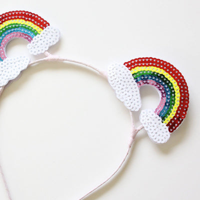 Rainbow Bear Ear Headband