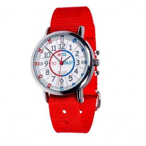 EasyRead Watch Red Strap (Red/Blue)