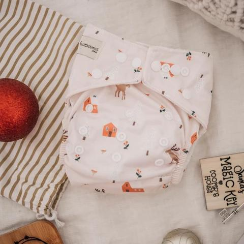 Reindeer Modern Cloth Nappy