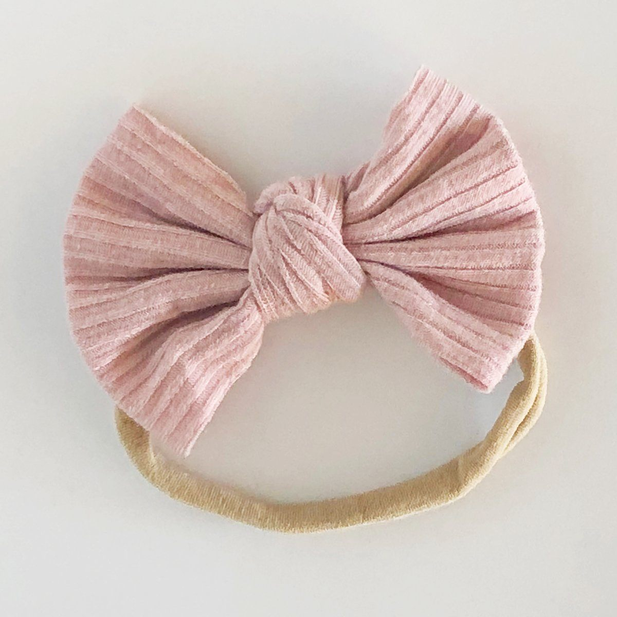 Ribbed Bow Baby Headband