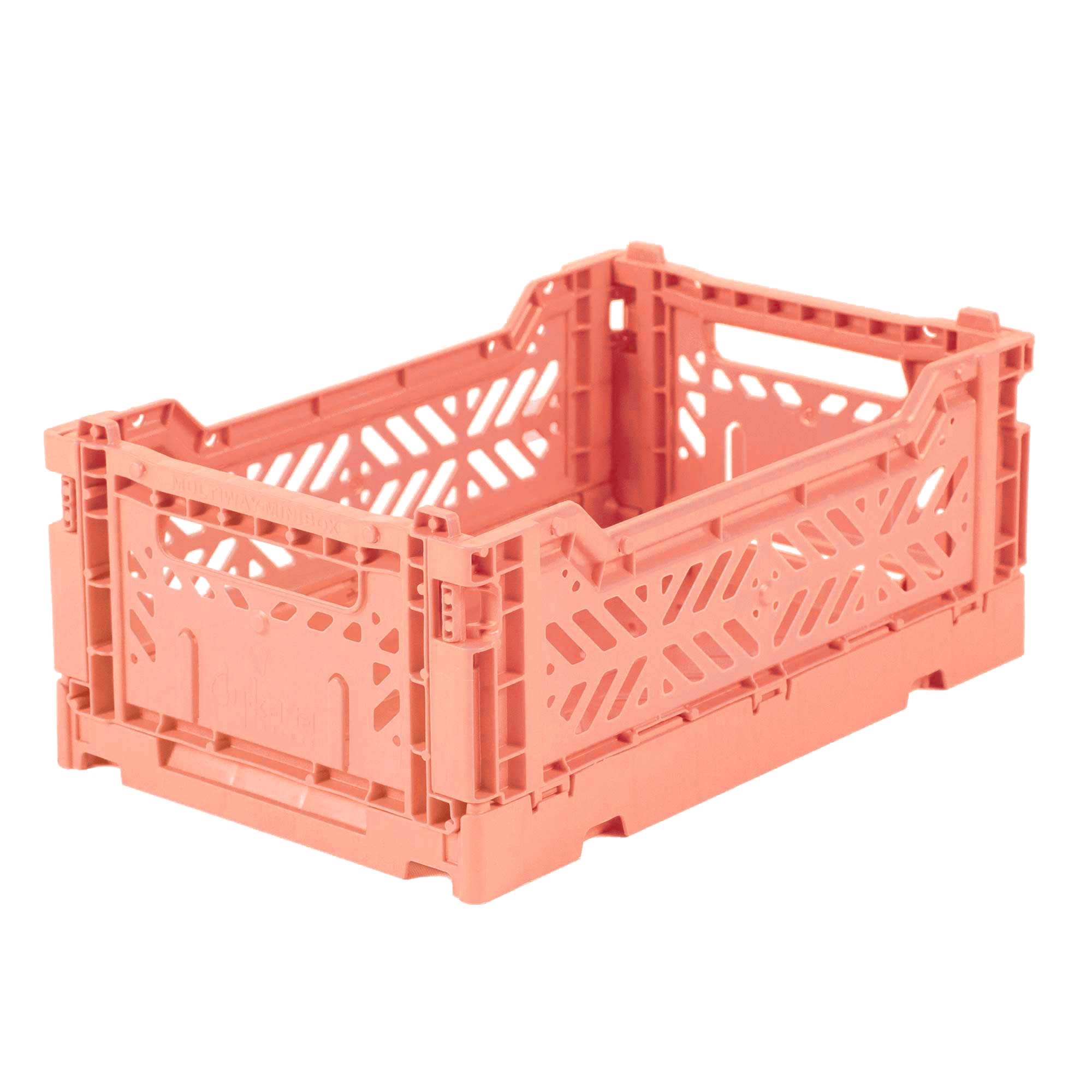 Mini Folding Crate (Salmon)