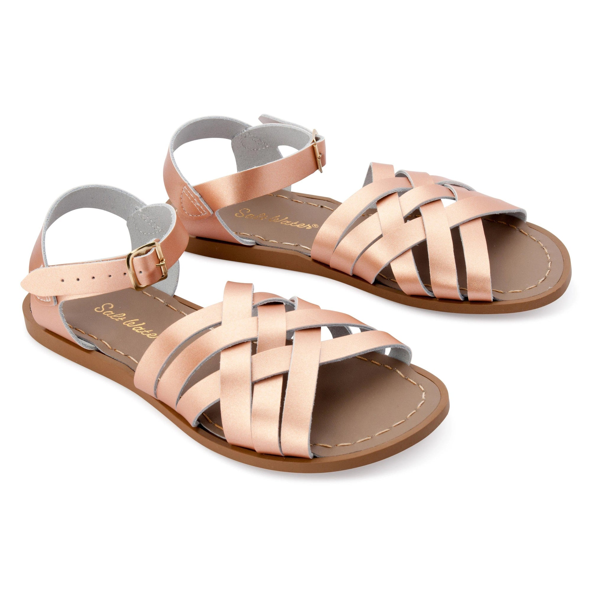 Salt Water Retro Sandals (Rose Gold)