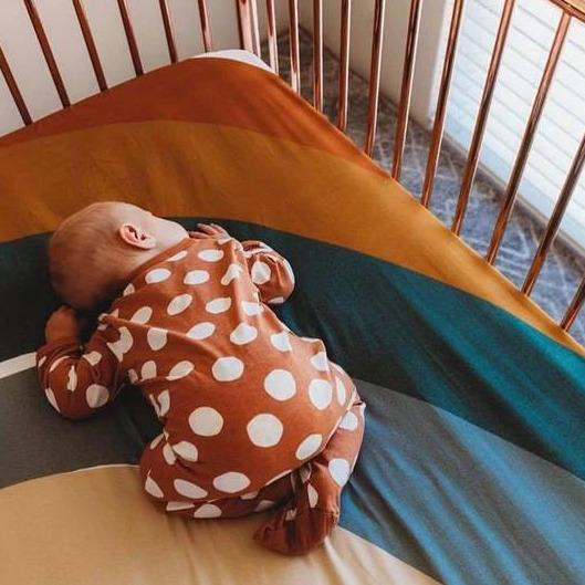 Desert Rainbow Bassinet Sheet