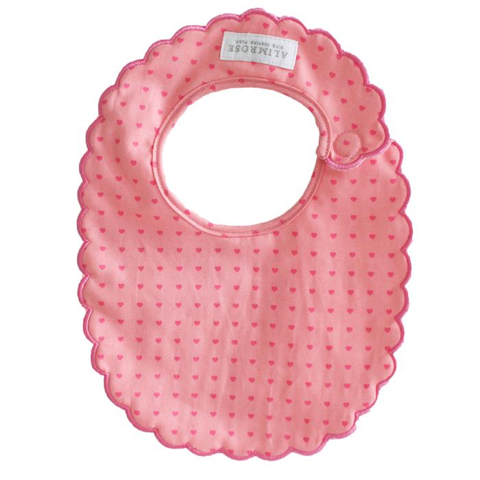Scallop Bib (Mini Hearts)