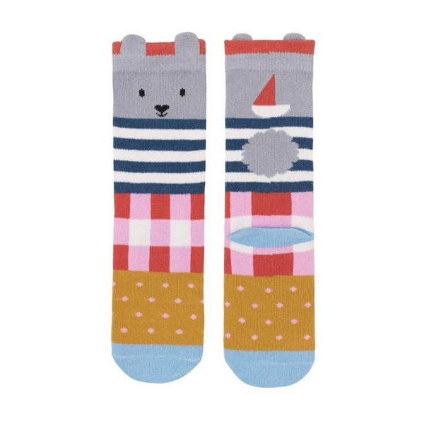 Seaside Bunny Midi Socks