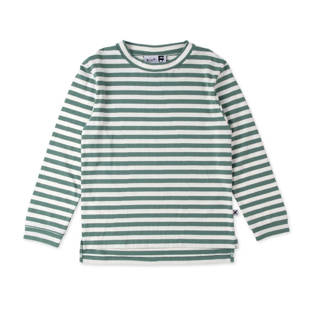 Split Tee (Mint Stripe)