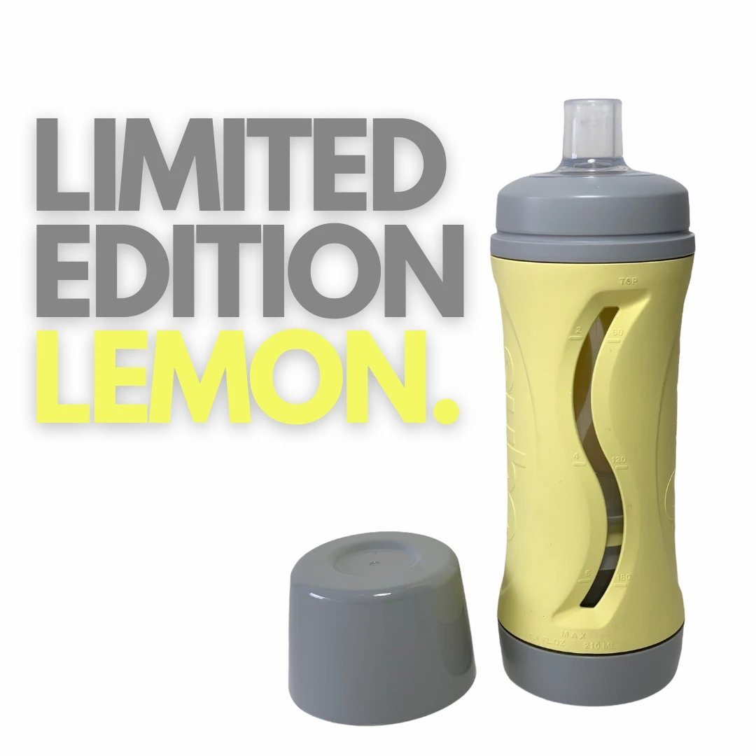 The Food Bottle (Lemon/Grey)