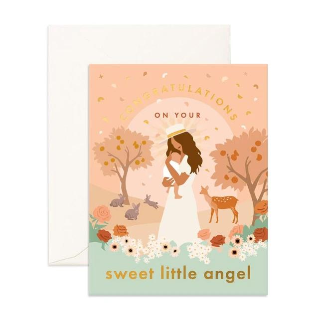 Sweet Little Angel Greeting Card