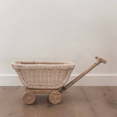 Rattan Toy Wagon