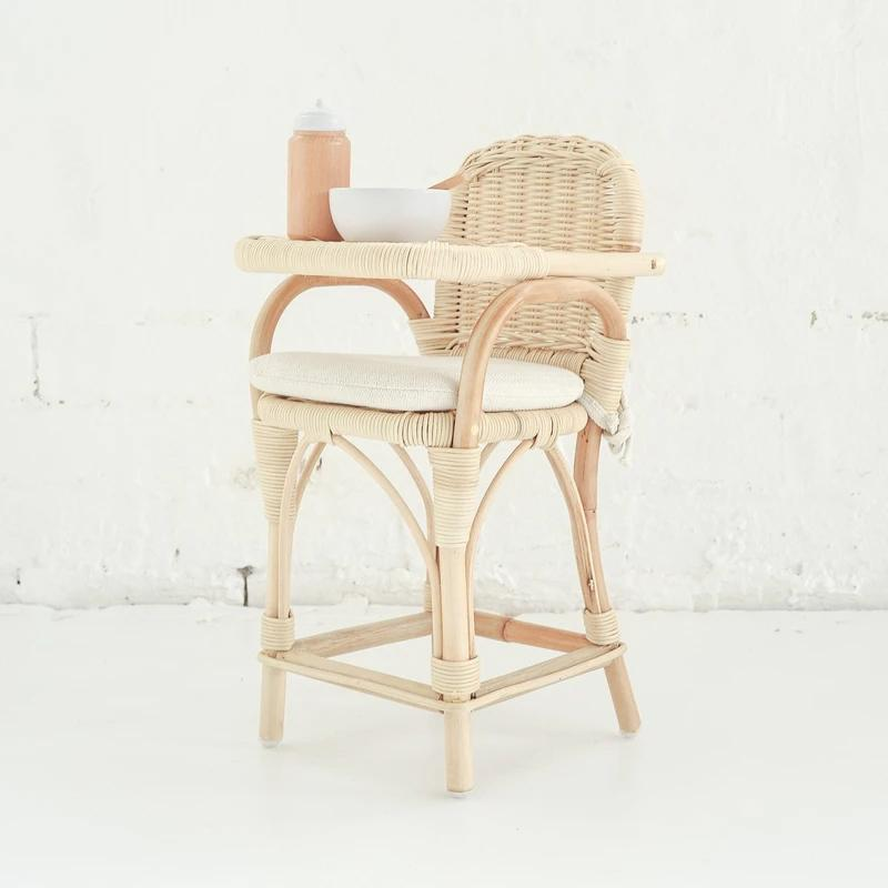 Rattan Dolls High Chair