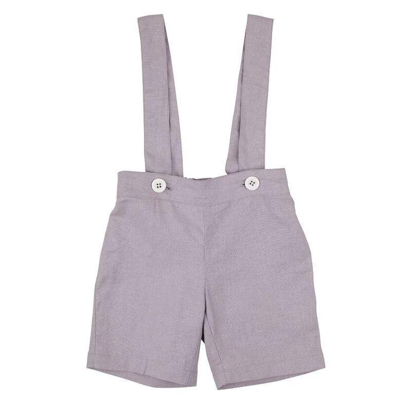 Toby Suspender Shorts (Light Grey)