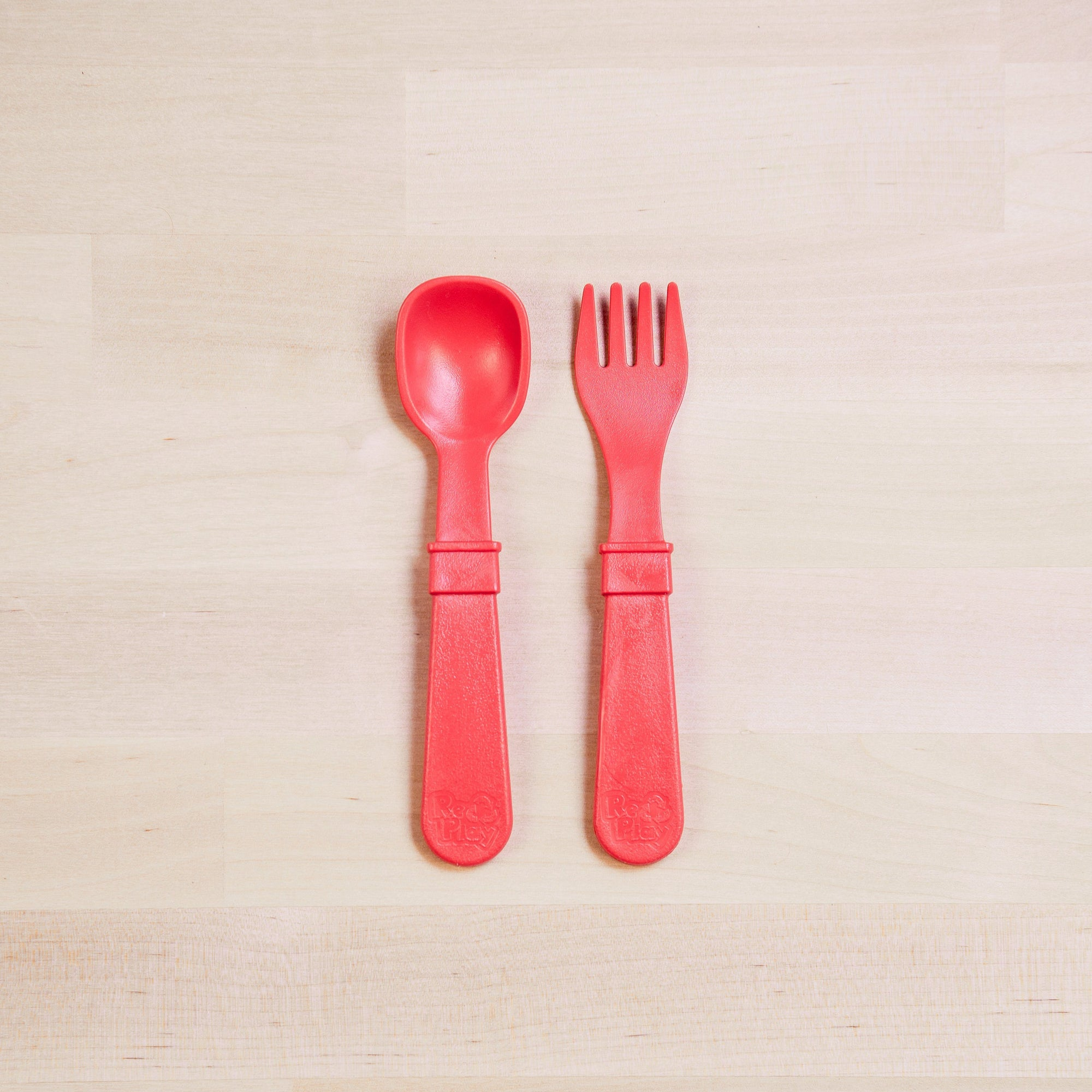 Fork and Spoon (Red)