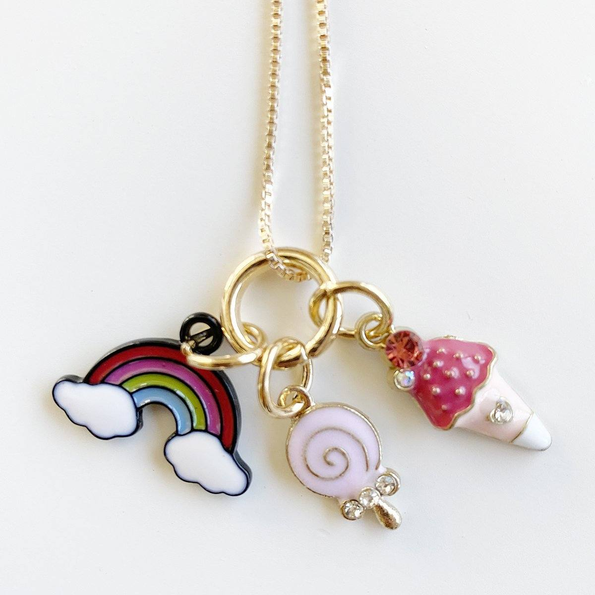Rainbow Treats Charm Necklace