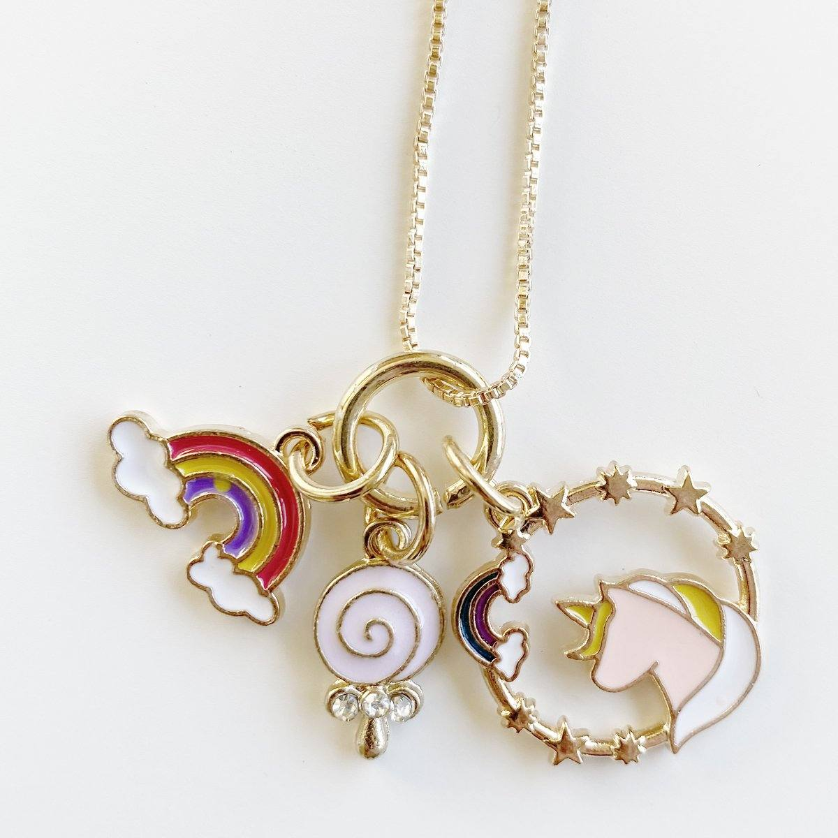 Unicorn Wreath Charm Necklace