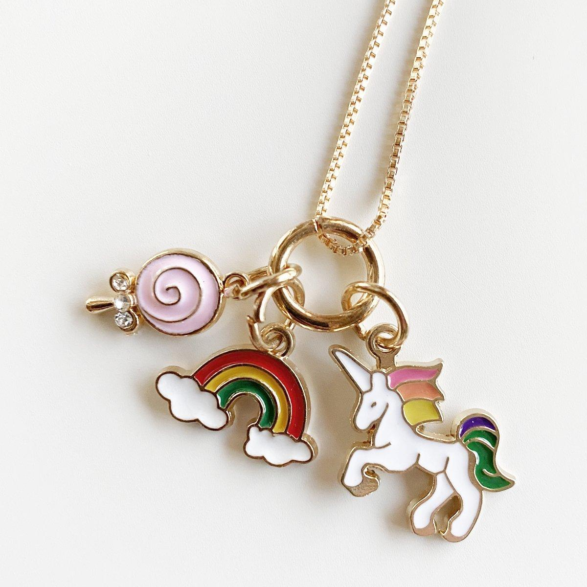Unicorn & Rainbow Charm Necklace