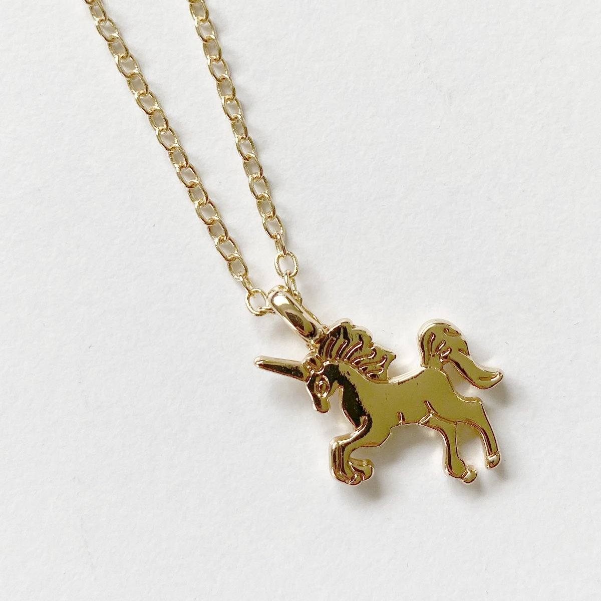 Unicorn Necklace (Gold)