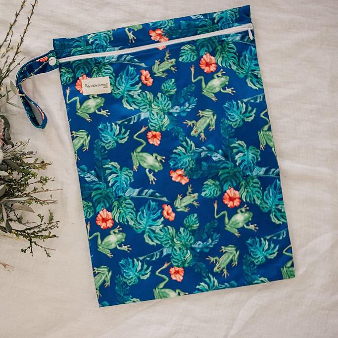 Tropical Frogs Wet Bag