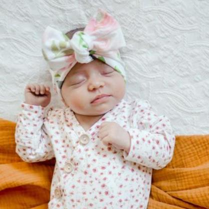 White Rose Bow Knot Headband